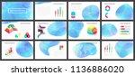 vector presentation template.... | Shutterstock .eps vector #1136886020