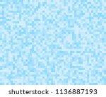 light blue square mosaic tiles... | Shutterstock .eps vector #1136887193