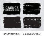 set of grunge banners.grunge... | Shutterstock .eps vector #1136890460