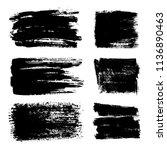 set of grunge banners.grunge... | Shutterstock .eps vector #1136890463