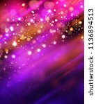 magic background with bokeh and ... | Shutterstock .eps vector #1136894513