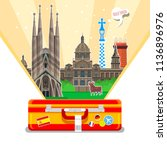 concept of travel to spain or... | Shutterstock . vector #1136896976