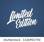 limited edition lettering logo. ... | Shutterstock .eps vector #1136901743