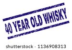 40 year old whisky stamp seal... | Shutterstock .eps vector #1136908313
