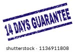 14 days guarantee stamp seal... | Shutterstock .eps vector #1136911808