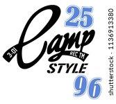 stylish trendy slogan tee t... | Shutterstock .eps vector #1136913380
