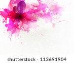 vintage  pink flower .vector...