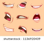 cartoon mouth expressions set.... | Shutterstock .eps vector #1136920439