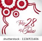 28 july. peru happy...   Shutterstock .eps vector #1136921606