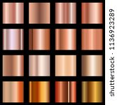 copper gradients set.... | Shutterstock .eps vector #1136923289