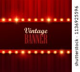 retro light sign. vintage style ... | Shutterstock .eps vector #1136925596