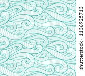 abstract colorful curly lines... | Shutterstock .eps vector #1136925713