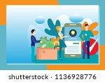 mobile application development... | Shutterstock .eps vector #1136928776
