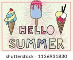 ice cream vector drawn... | Shutterstock .eps vector #1136931830