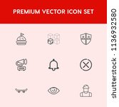 modern  simple vector icon set... | Shutterstock .eps vector #1136932580