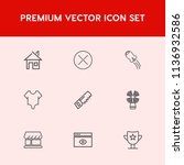 modern  simple vector icon set... | Shutterstock .eps vector #1136932586