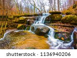 Autumn Forest River Waterfall...