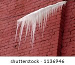 Icicles Hanging On A Wire