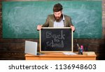 teacher or school principal... | Shutterstock . vector #1136948603