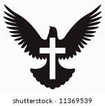 Dove With Cross Symbol