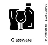 different glass vessels in a... | Shutterstock .eps vector #1136960999