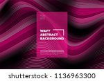 pink 3d background with wave... | Shutterstock .eps vector #1136963300