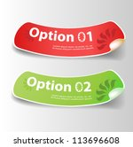set of colorful vector sticker. ... | Shutterstock .eps vector #113696608