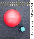 sports equipment. exercise ball ...   Shutterstock . vector #1136966720