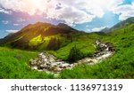 kackar mountains in the black... | Shutterstock . vector #1136971319