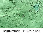 old rusty grunge green wall... | Shutterstock . vector #1136975420