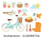 spring natural floral blossom... | Shutterstock .eps vector #1136984726