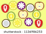 mixed fruits background | Shutterstock .eps vector #1136986253