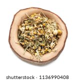 wooden bowl with dried... | Shutterstock . vector #1136990408