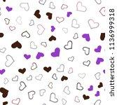 dark pink  red vector seamless... | Shutterstock .eps vector #1136999318