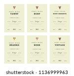 port wine labels. vector...   Shutterstock .eps vector #1136999963