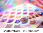 eye shadow palette. a colorful... | Shutterstock . vector #1137000824