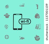 wi fi access is available for... | Shutterstock .eps vector #1137001109