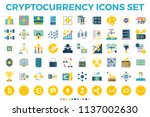 cryptocurrency and blockchain... | Shutterstock .eps vector #1137002630