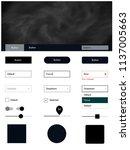 dark gray vector web ui kit...