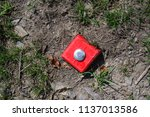plastic geodetic point on the... | Shutterstock . vector #1137013586