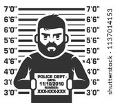 arrested the thief. a criminal... | Shutterstock .eps vector #1137014153