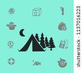tourist tent vector illustration | Shutterstock .eps vector #1137016223