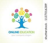 online education logo  people... | Shutterstock .eps vector #1137016289