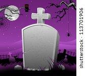 illustration of happy halloween ... | Shutterstock .eps vector #113701906