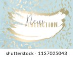 worn marble gold and pastel... | Shutterstock .eps vector #1137025043