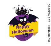 halloween elements.happy... | Shutterstock .eps vector #1137030980