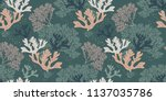 seamless natural pattern with... | Shutterstock .eps vector #1137035786