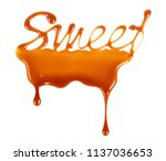 the word sweet written by... | Shutterstock . vector #1137036653