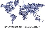 world of dots. | Shutterstock .eps vector #113703874