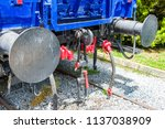 obsolete railway coupler of the ... | Shutterstock . vector #1137038909